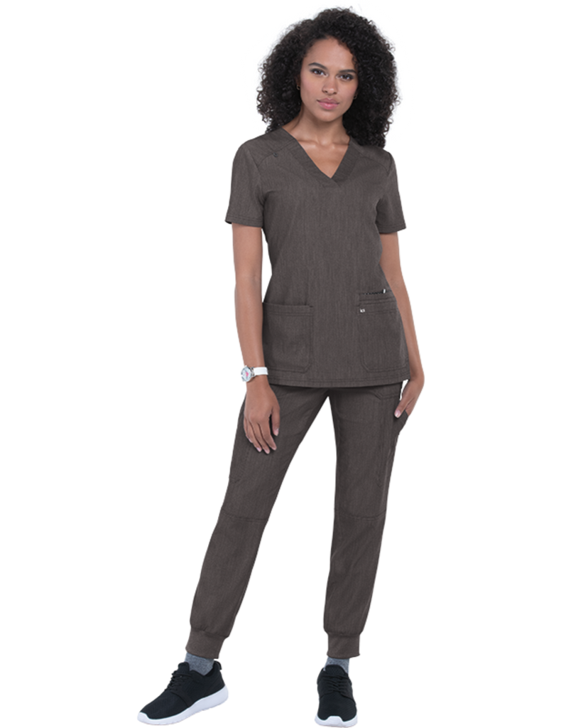 Koi | Hustle and Heart Top - Heather Grey