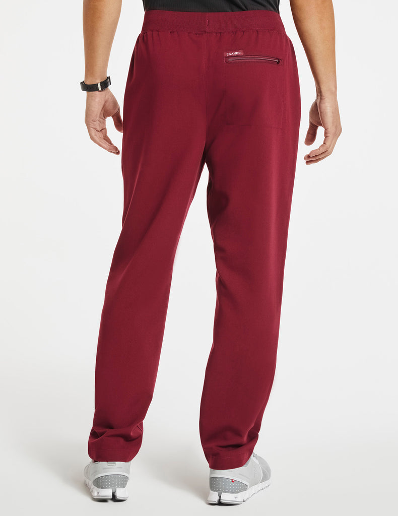 Jaanuu | Men's 4-Pocket Relaxed-Fit Pant - Wine - 4