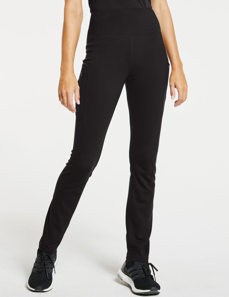 Jaanuu | Women's High-Waist Yoga Pant - Black - 1