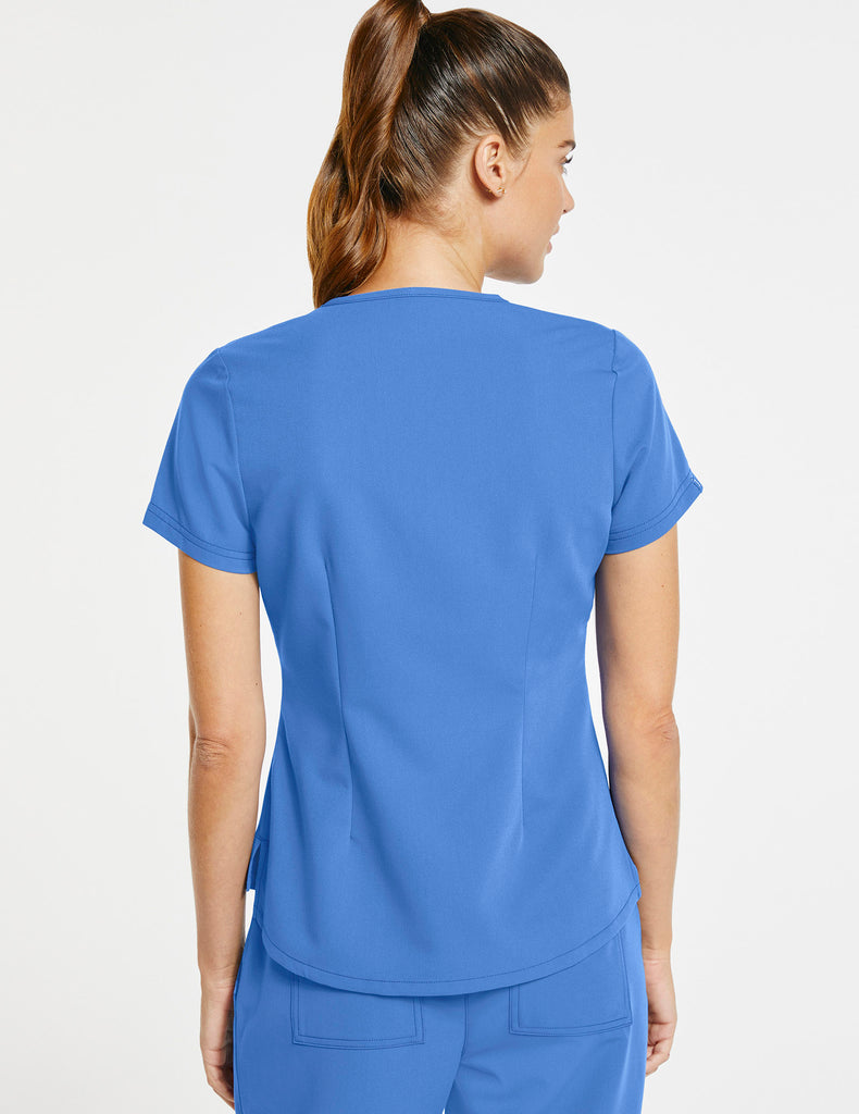 Jaanuu | Women's 1-Pocket Tuck-In Top - Ceil Blue - 4