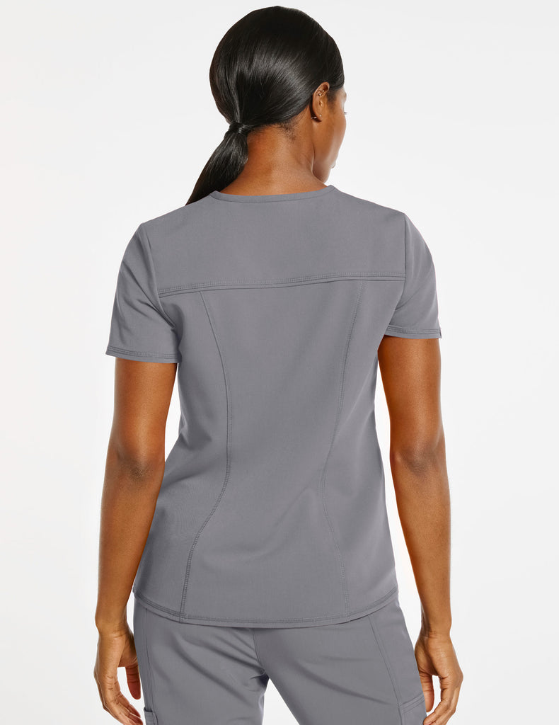 Jaanuu | Women's 4-Pocket D-Ring Top - Gray - 4