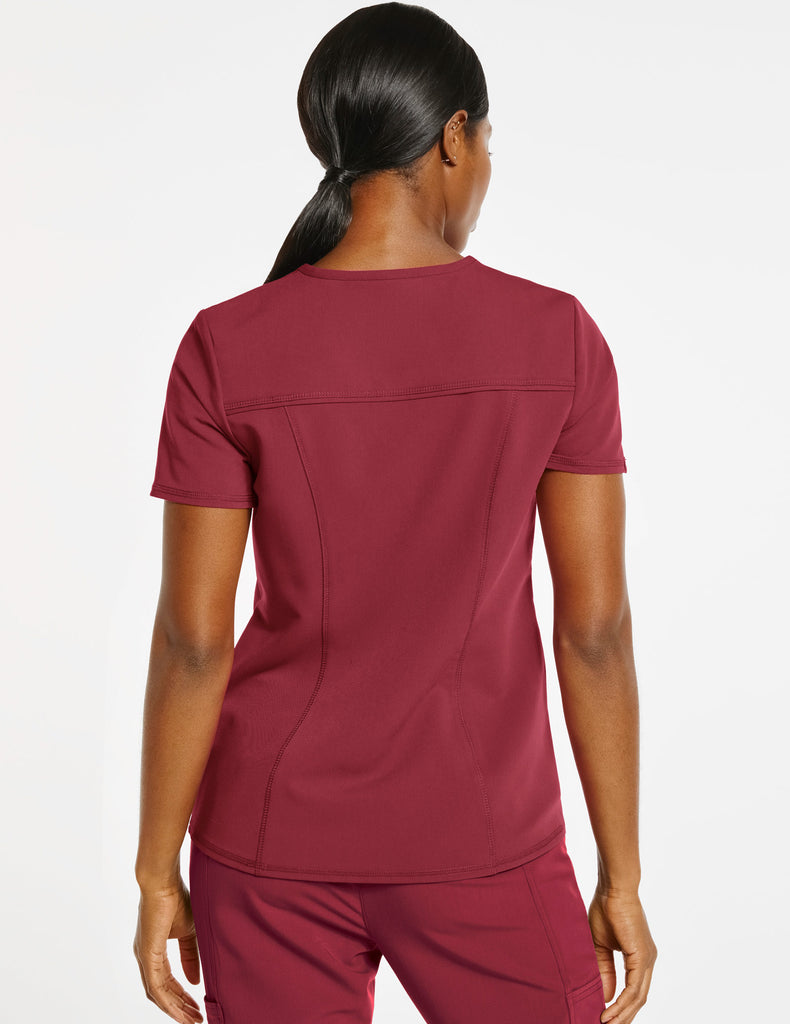 Jaanuu | Women's 4-Pocket D-Ring Top - Wine - 4