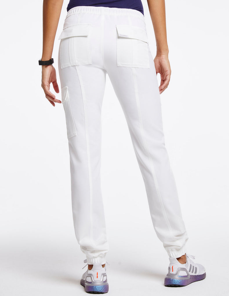 Jaanuu | Women's Essential Gold Zip Jogger - White - 4