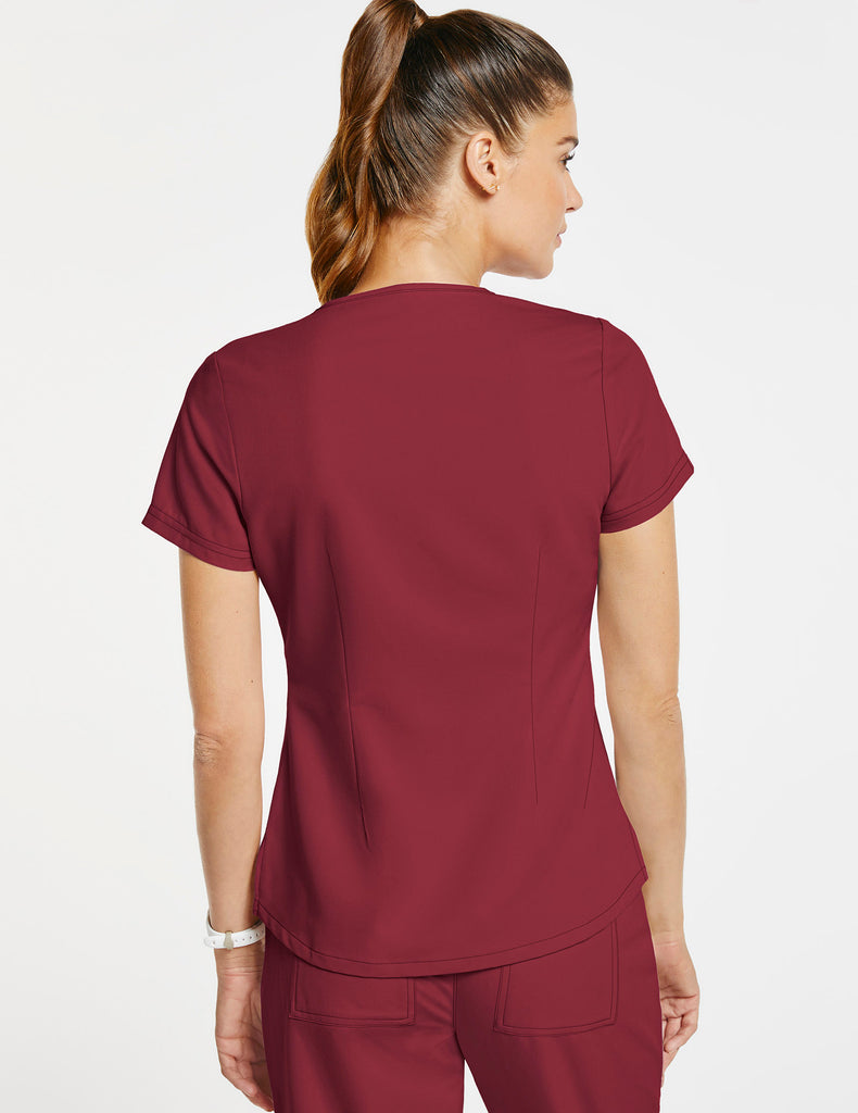 Jaanuu | Women's 1-Pocket Tuck-In Top - Wine - 4