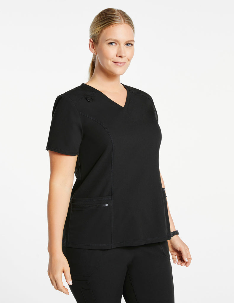 Jaanuu | Women's 4-Pocket D-Ring Top - Black - 1 - Curve