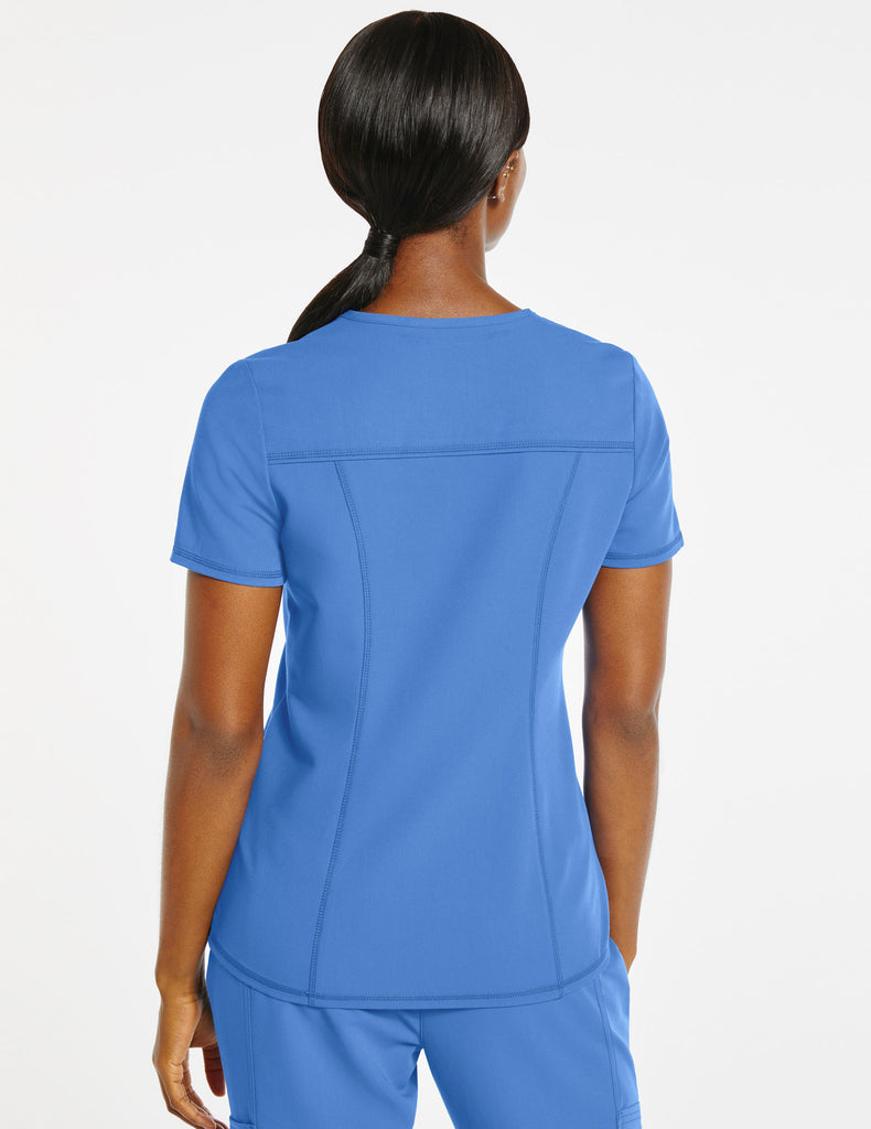 Jaanuu | Women's 4-Pocket D-Ring Top - Ceil Blue - 4