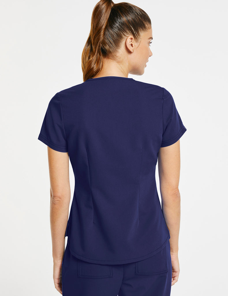 Jaanuu | Women's 1-Pocket Tuck-In Top - Navy - 4