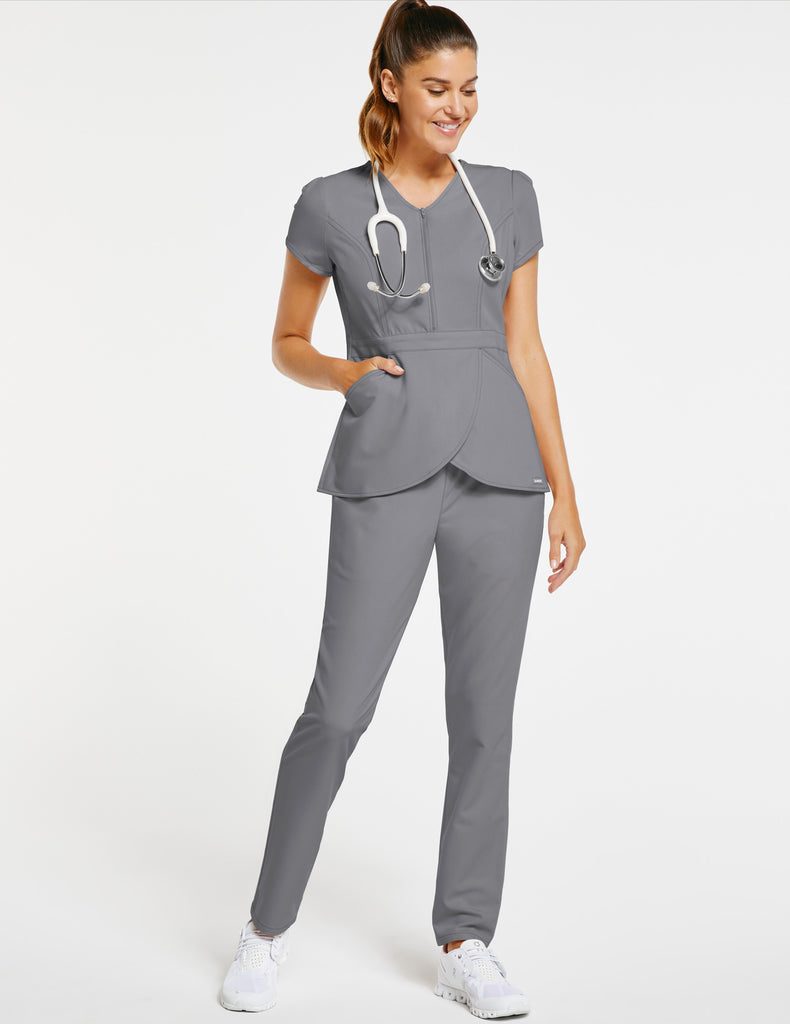 Jaanuu | Women's Essential Relaxed Pant - Gray - 2