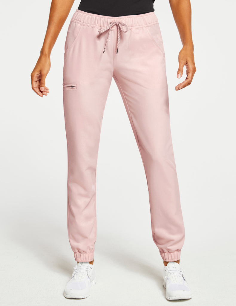 Jaanuu | Women's Essential 5-Pocket Jogger - Blushing Pink - 1