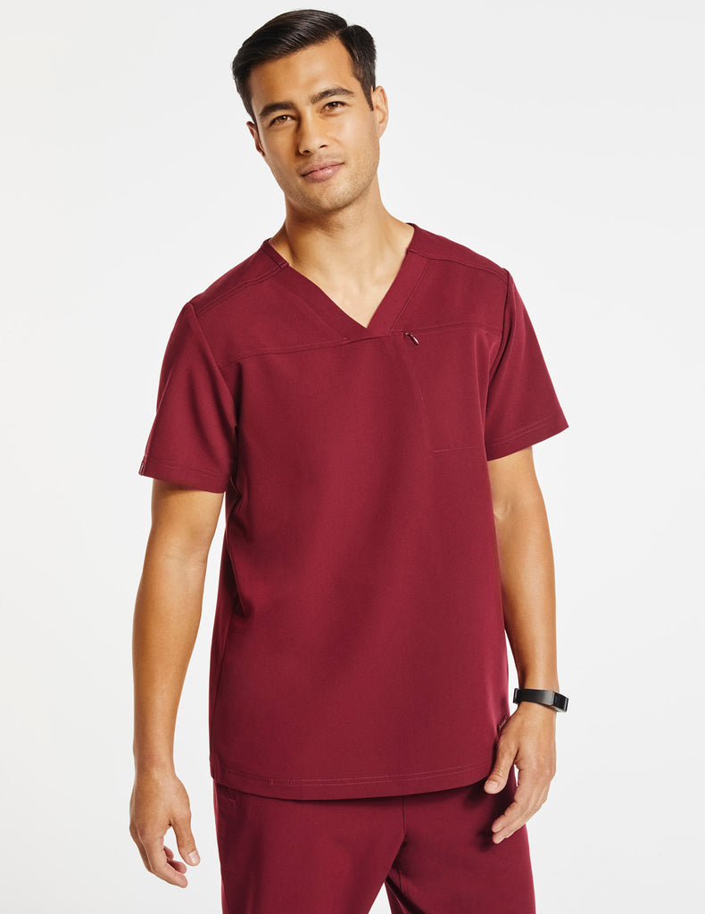 Jaanuu | Men's Hidden-Pocket Top - Wine - 1