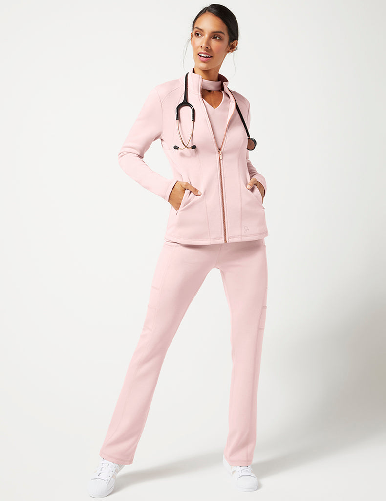 Pace Zip Front Jacket - Blushing Pink