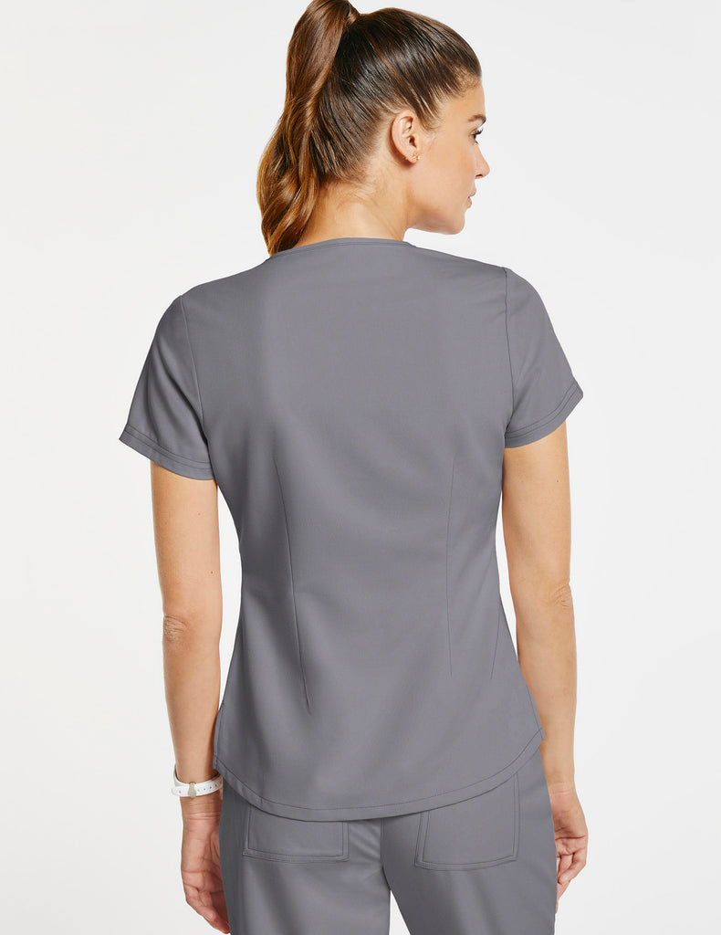 Jaanuu | Women's 1-Pocket Tuck-In Top - Gray - 4