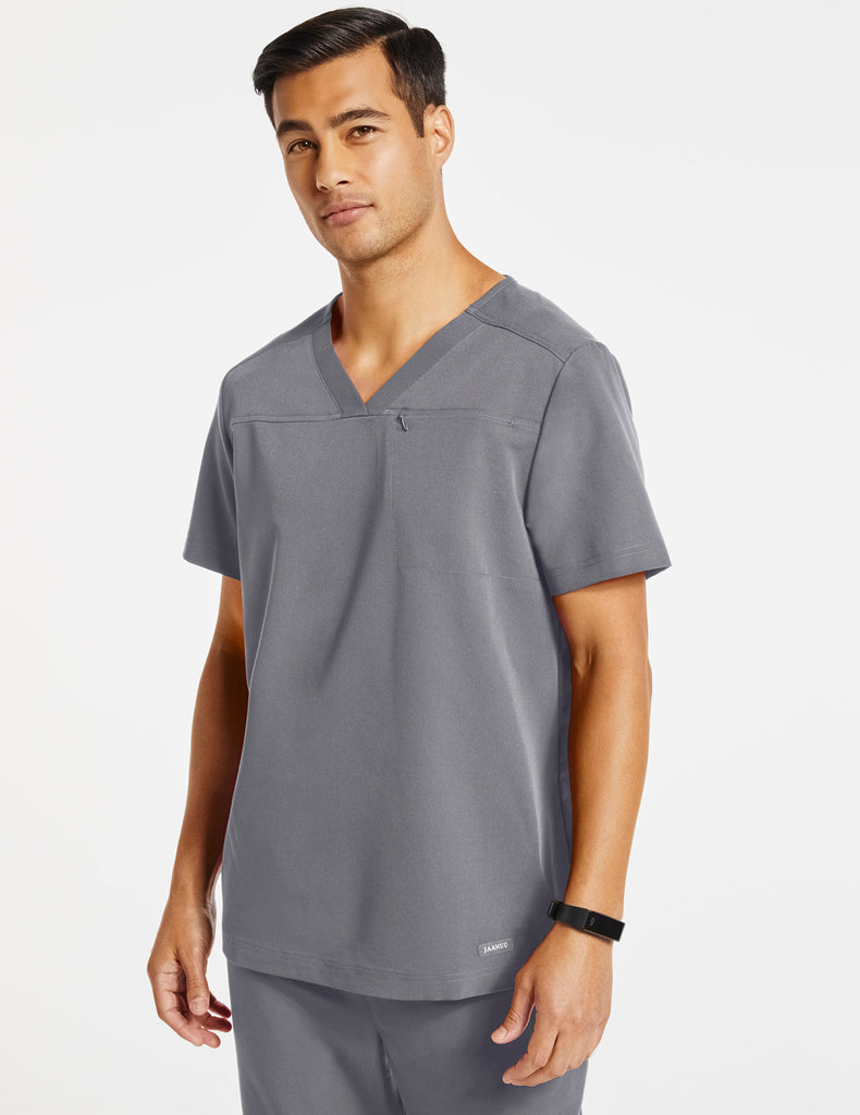 Jaanuu | Men's Hidden-Pocket Top - Gray - 1