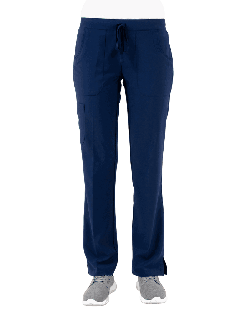 Life Threads | Women's Active Straight Leg Cargo Pant - Navy Blue - 1