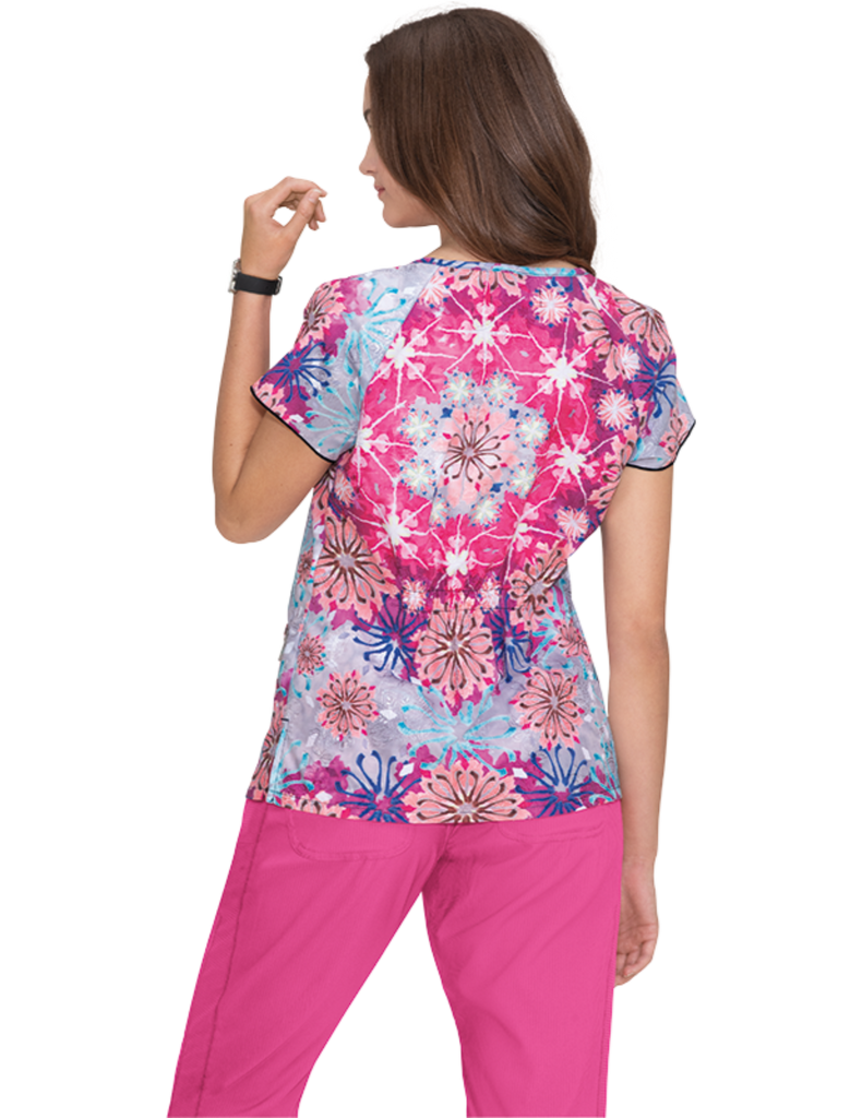 Koi | Kinsley Embroidered Top - Flower Burst