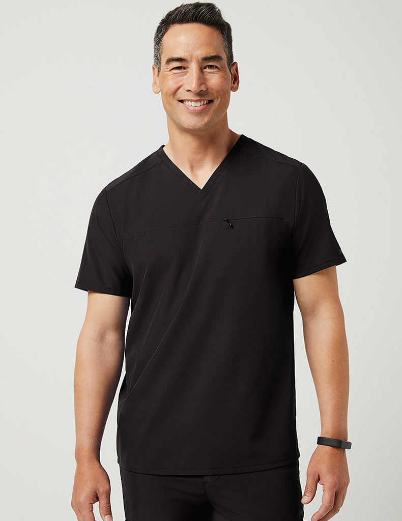 Jaanuu | Refined V-Neck Top - Black - 1