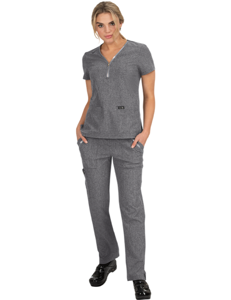 Koi | Marie Top - Heather Grey