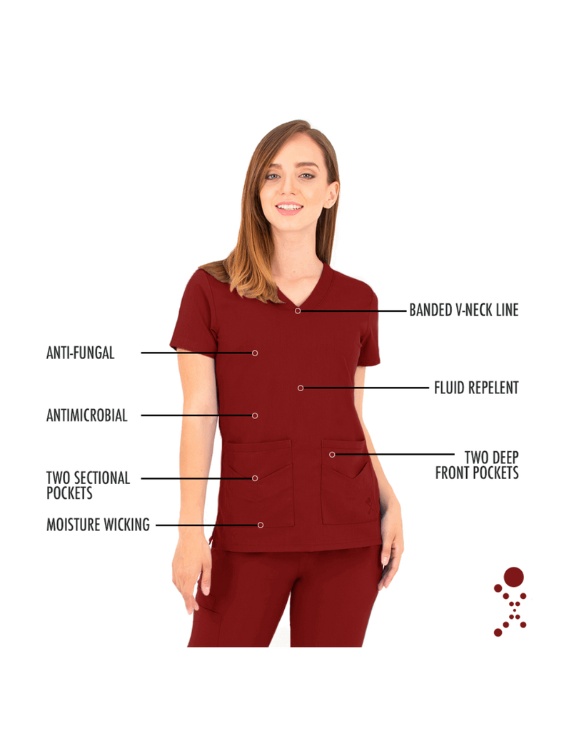 Life Threads | Women's Ergo 2.0 Utility Top - Wine - 5