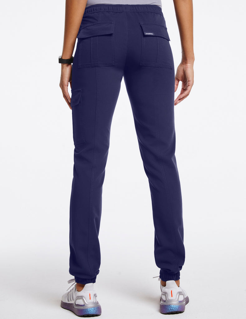 Jaanuu | Women's Essential Gold Zip Jogger - Navy - 4