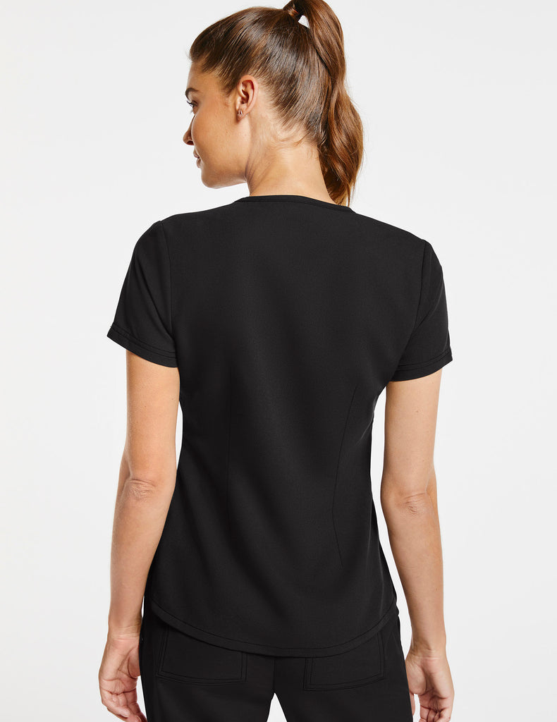 Jaanuu | Women's 1-Pocket Tuck-In Top - Black - 4