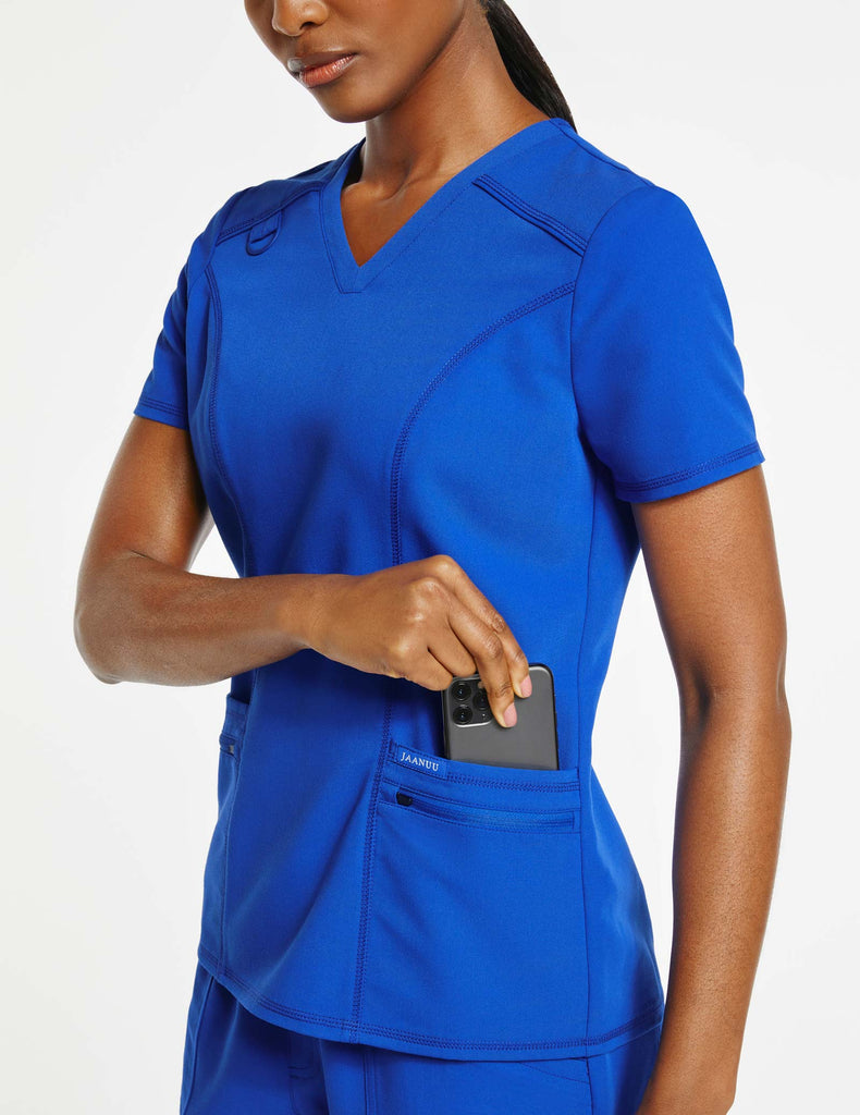 Jaanuu | Women's 4-Pocket D-Ring Top - Royal Blue - 3