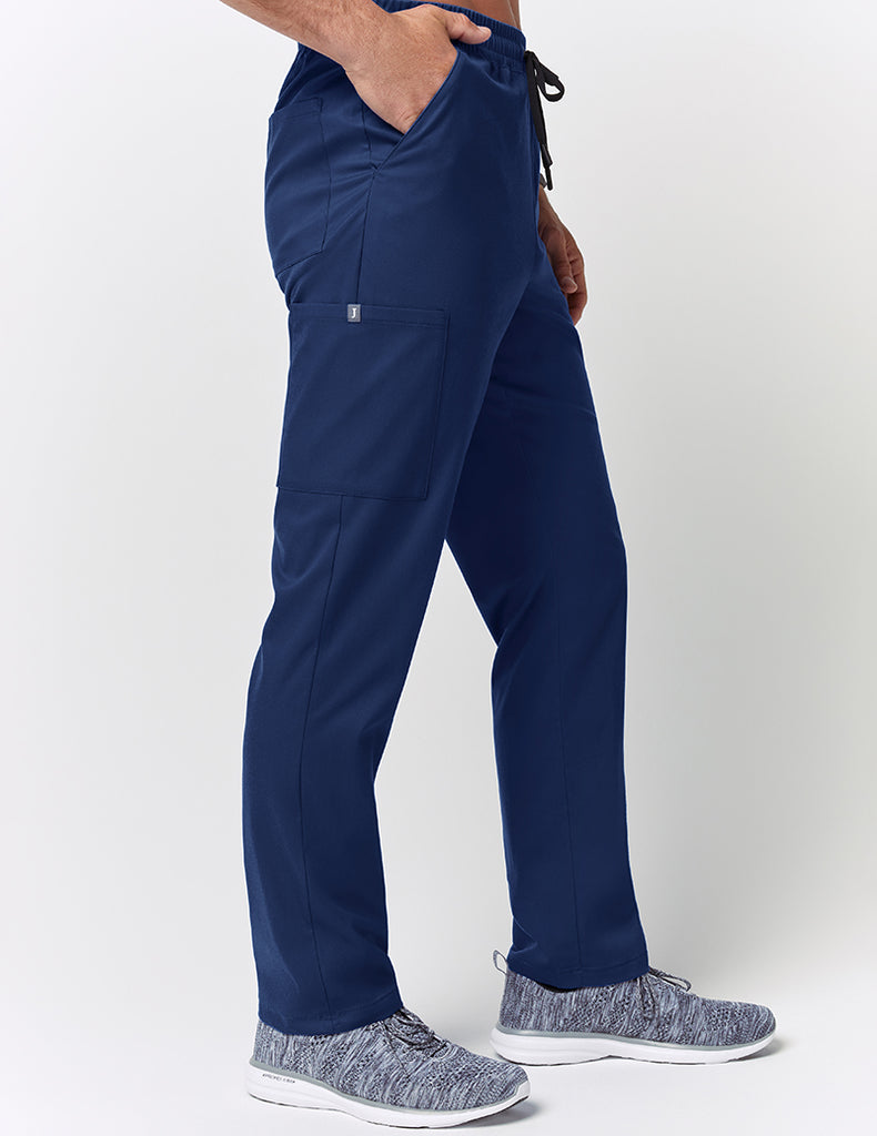 Jaanuu | Straight Leg Drawstring Pant - Estate Navy Blue - 3