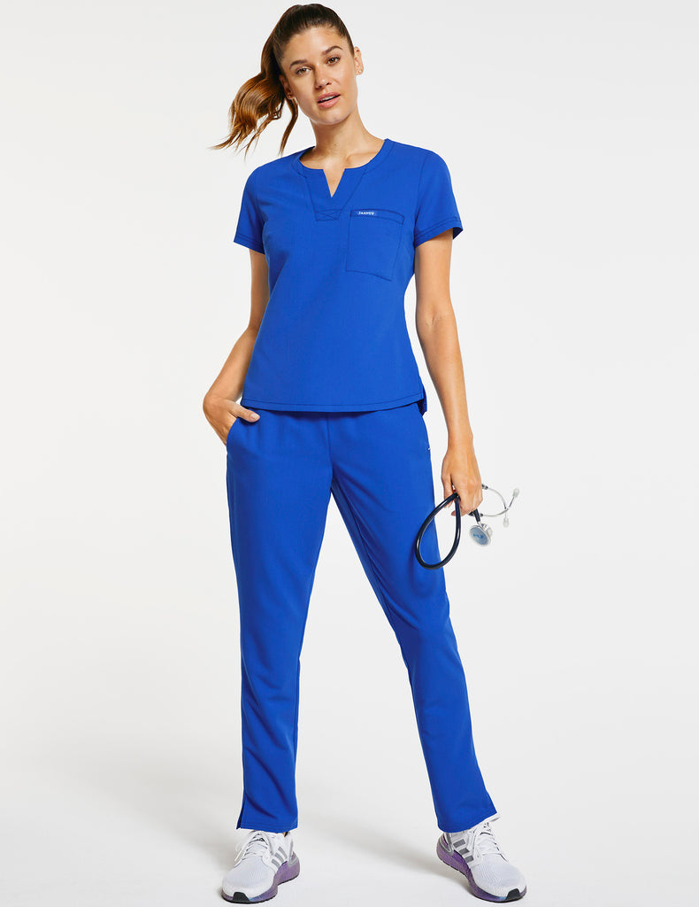 Jaanuu | Women's 1-Pocket Tuck-In Top - Royal Blue - 2