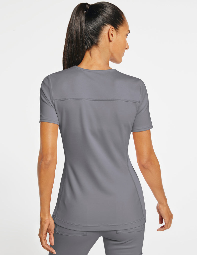 Jaanuu | Women's 2-Pocket Side-Rib Top - Gray - 4