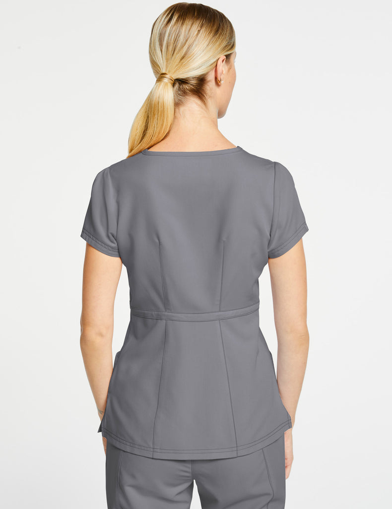 Jaanuu | Women's Signature Peplum Top - Gray - 4