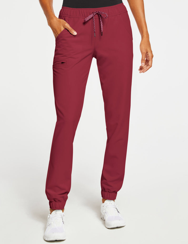 Jaanuu | Women's Essential 5-Pocket Jogger - Wine - 1