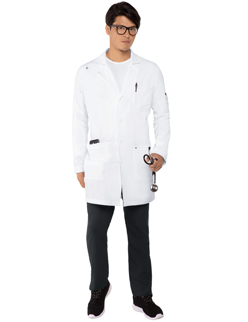 Koi | His Everyday Lab Coat - White