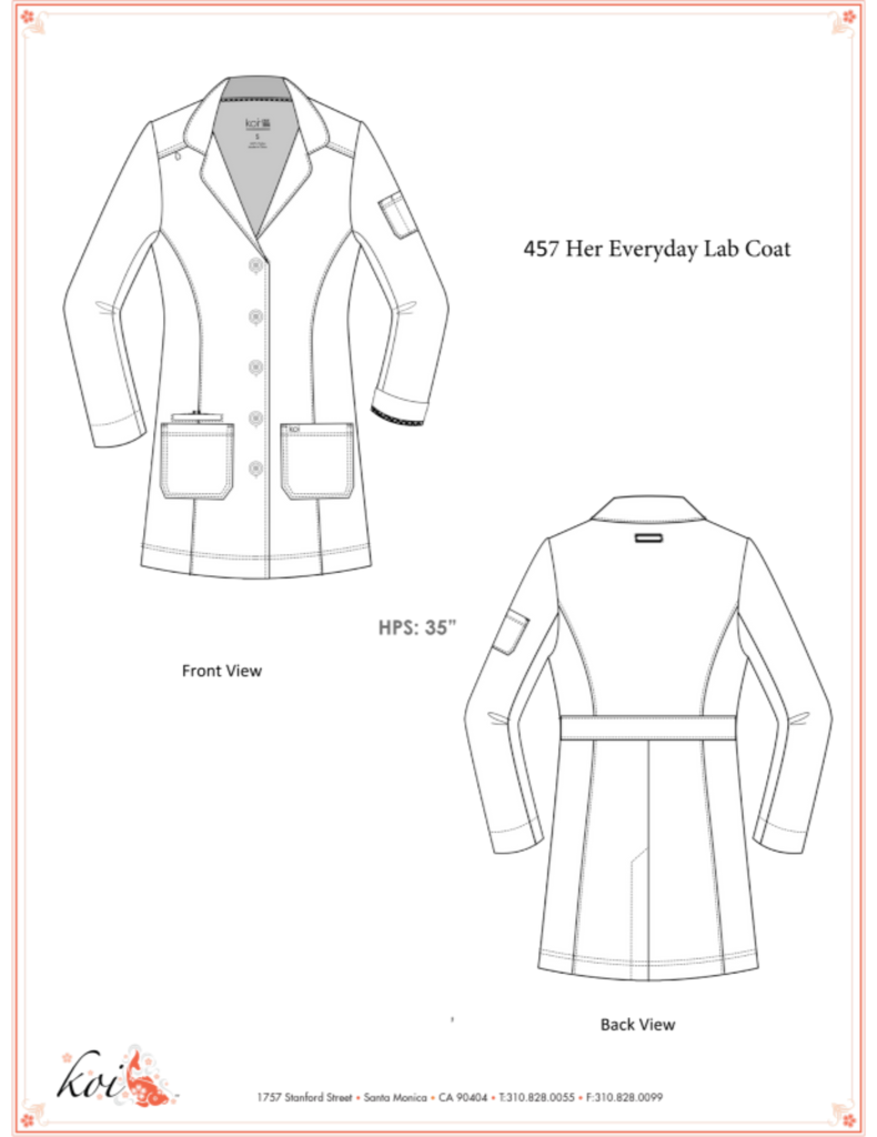 Koi | Her Everyday Lab Coat - Sketch