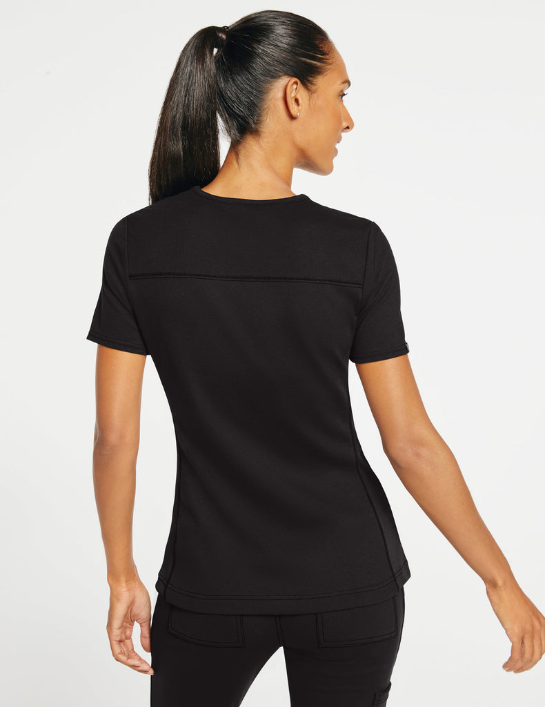 Jaanuu | Women's 2-Pocket Side-Rib Top - Black - 4