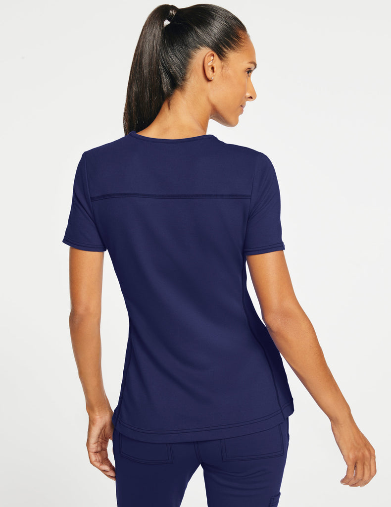 Jaanuu | Women's 2-Pocket Side-Rib Top - Navy - 4
