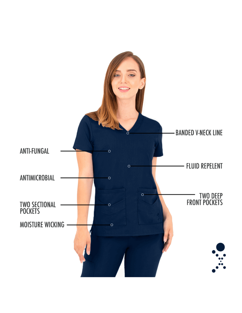 Life Threads | Women's Ergo 2.0 Utility Top - Navy Blue - 5