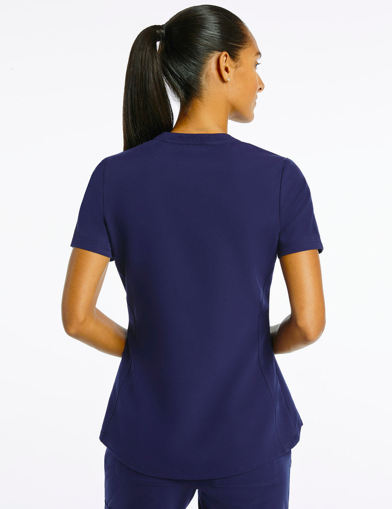 Jaanuu | Women's Crew Step Hem Top - Navy - 4