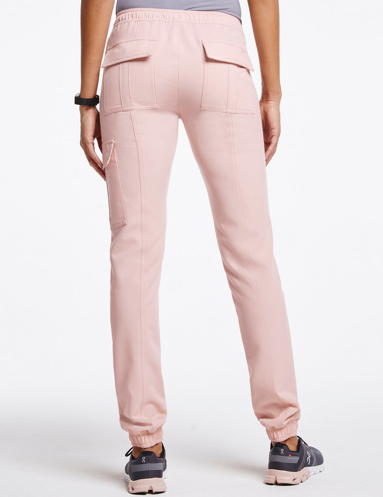 Jaanuu | Women's Essential Gold Zip Jogger - Blushing Pink - 4