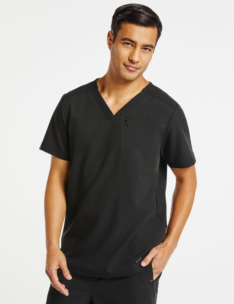 Jaanuu | Men's Hidden-Pocket Top - Black - 1