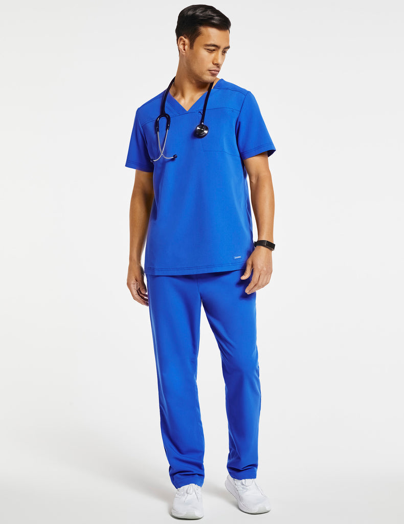 Jaanuu | Men's Hidden-Pocket Top - Royal Blue - 2