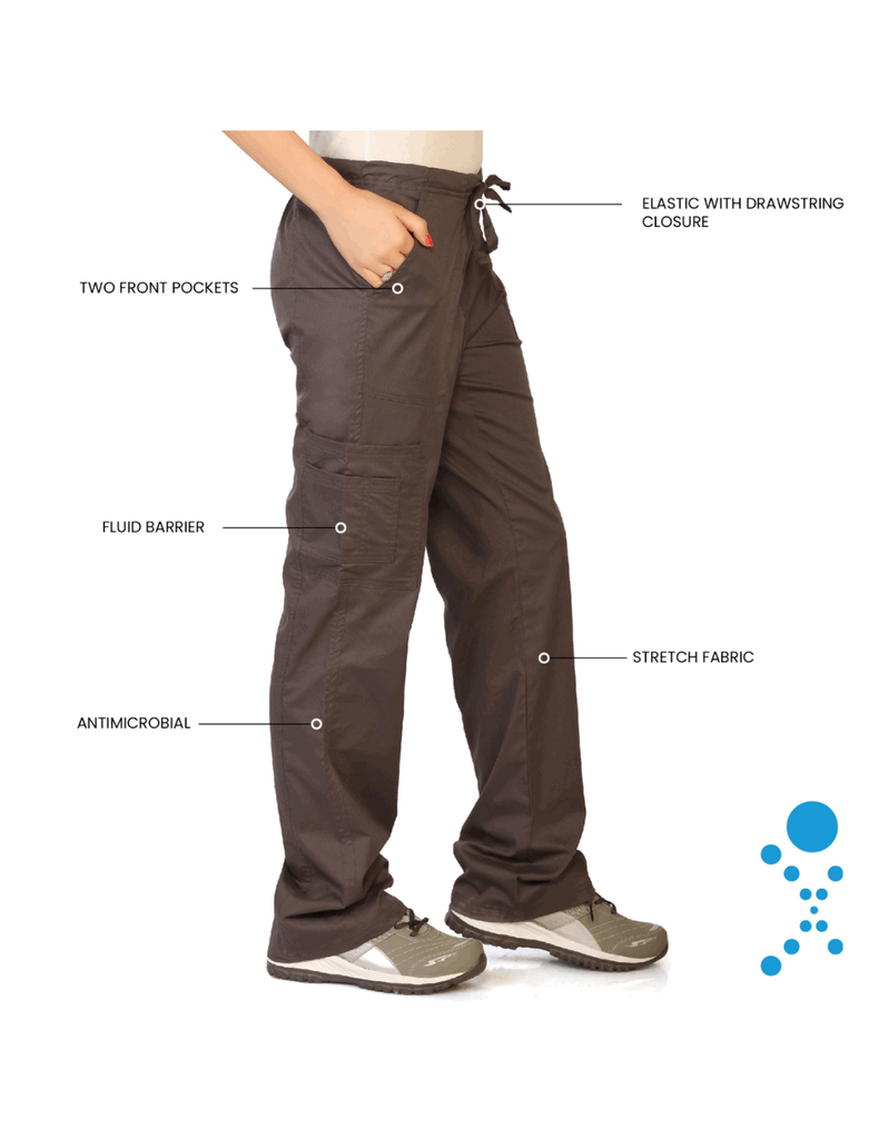 Life Threads | Women's Contego Cargo Pant - Pewter - 5