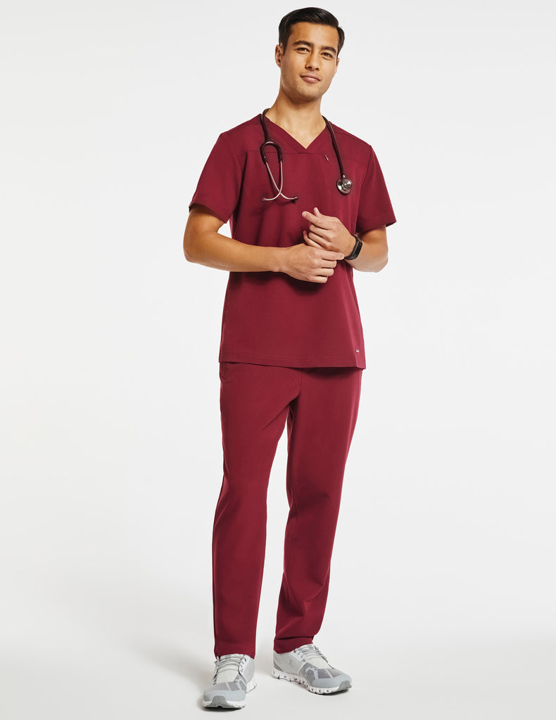 Jaanuu | Men's 4-Pocket Relaxed-Fit Pant - Wine - 2