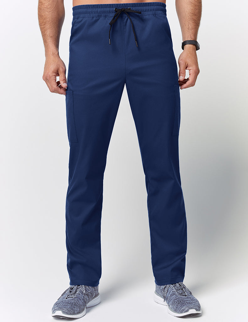 Jaanuu | Straight Leg Drawstring Pant - Estate Navy Blue - 1