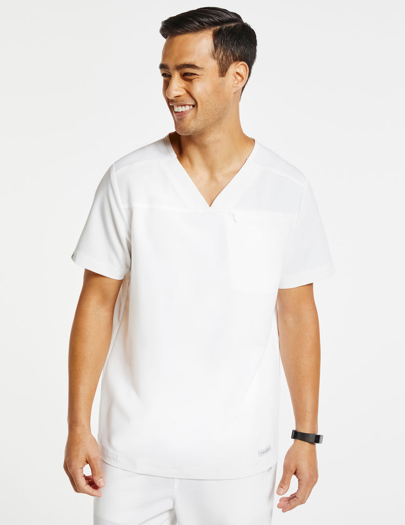 Jaanuu | Men's Hidden-Pocket Top - White - 1