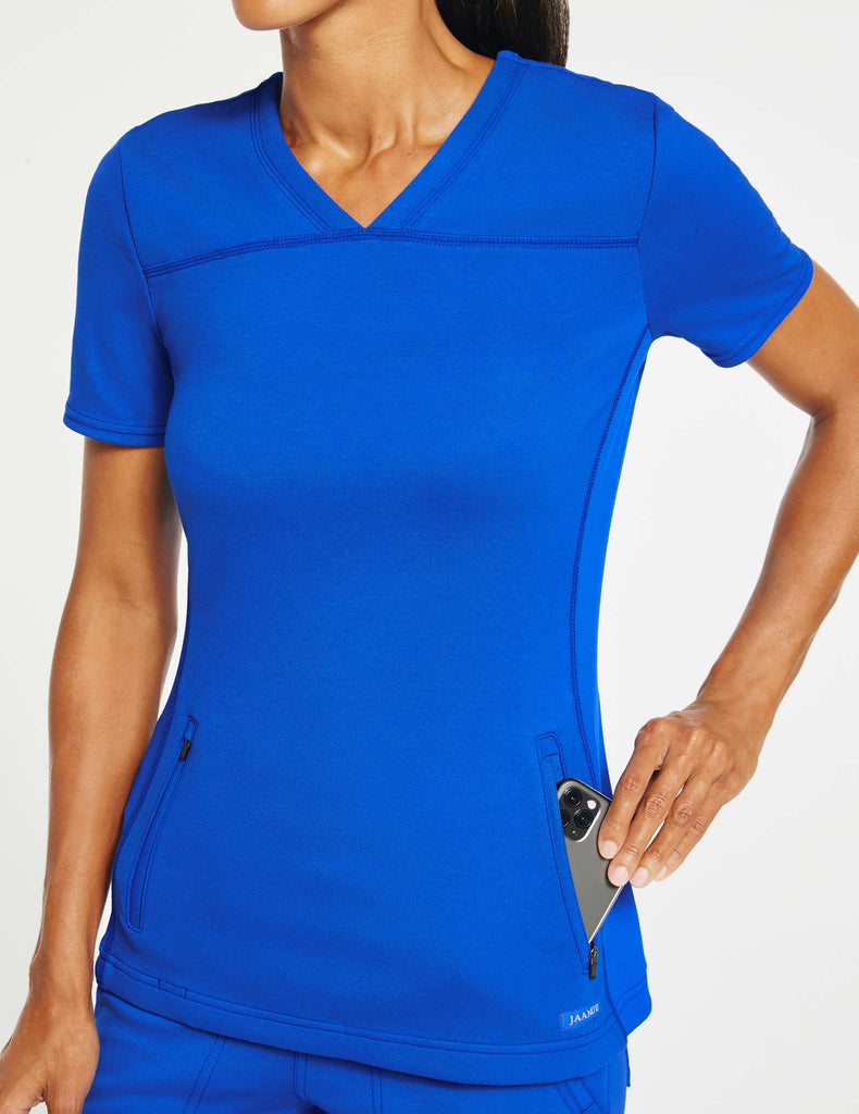 Jaanuu | Women's 2-Pocket Side-Rib Top - Royal Blue - 3