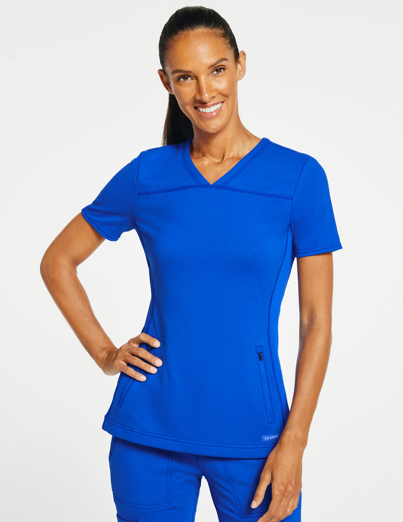 Jaanuu | Women's 2-Pocket Side-Rib Top - Royal Blue - 1