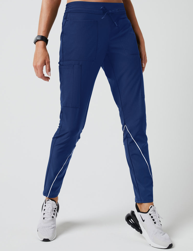 Jaanuu | Charge Cargo Drawcord Pant - Estate Navy Blue - 1