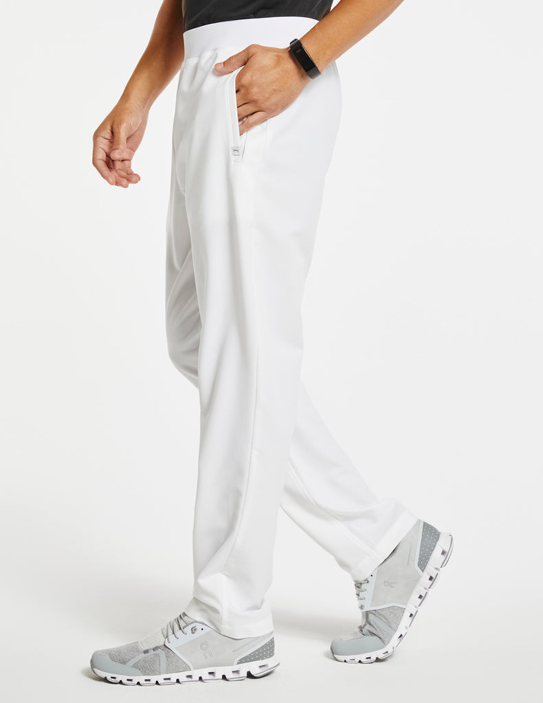 Jaanuu | Men's 4-Pocket Relaxed-Fit Pant - White - 3