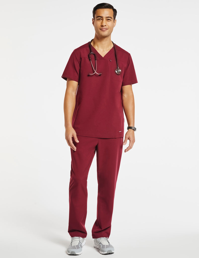 Jaanuu | Men's Hidden-Pocket Top - Wine - 2