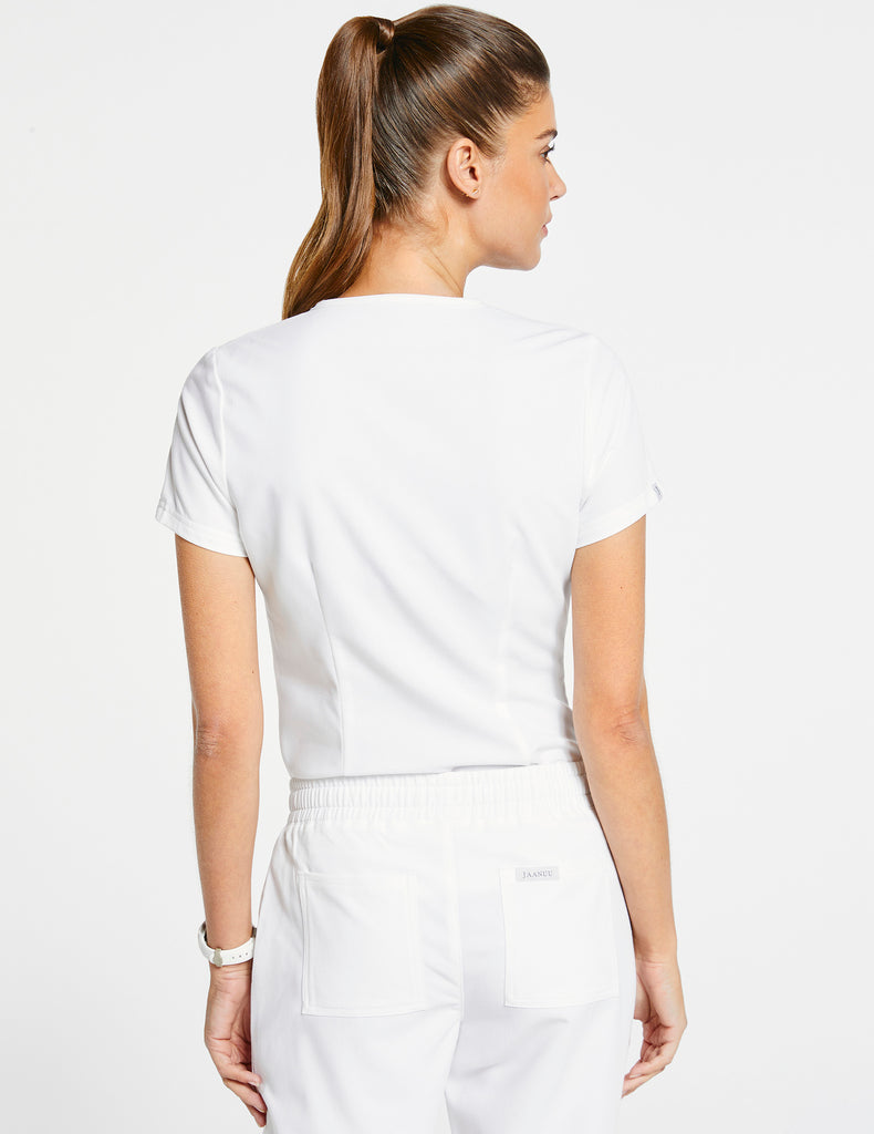 Jaanuu | Women's 1-Pocket Tuck-In Top - White - 4