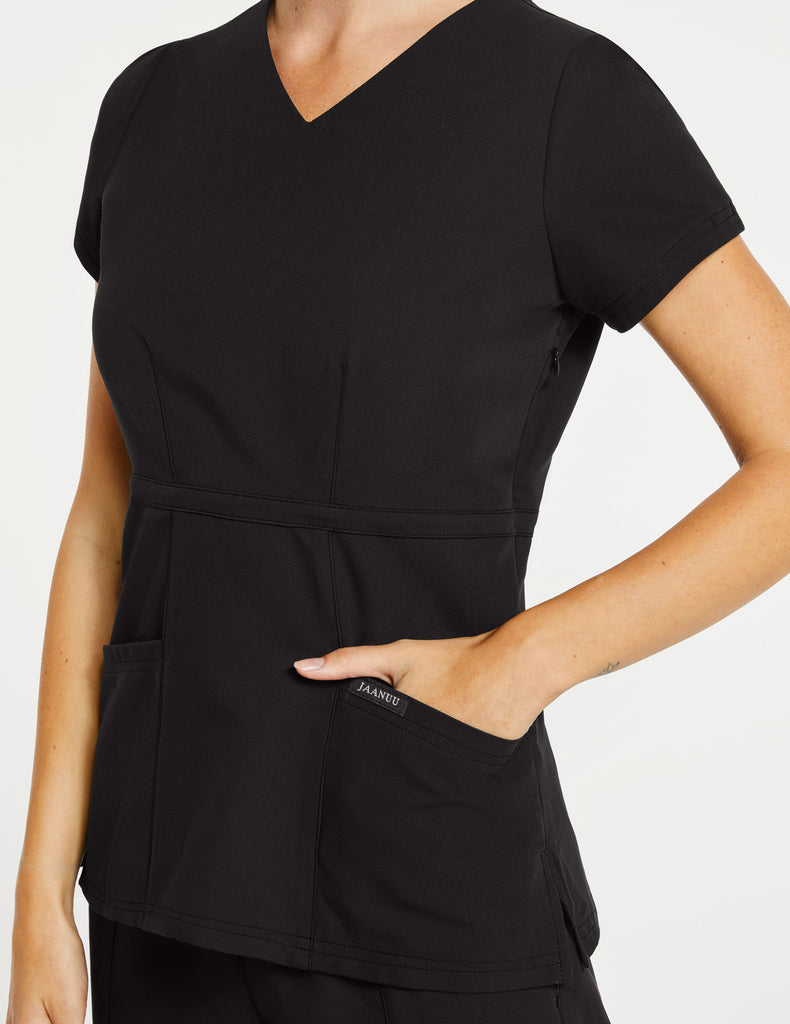 Jaanuu | Women's Signature Peplum Top - Black - 3
